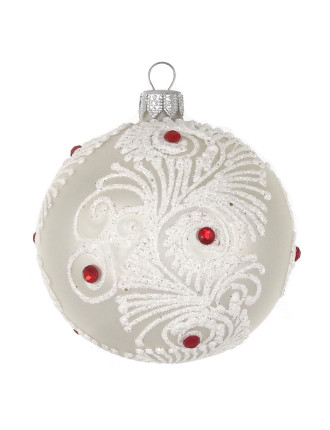 With Bauble With Swirl Glitter