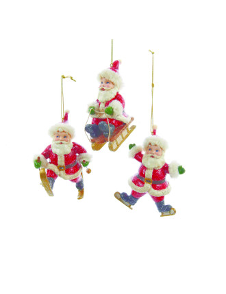 Assorted Santa Winter Sports