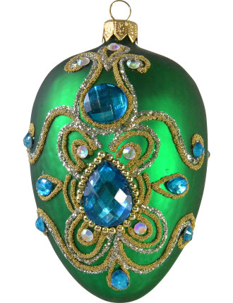 Green Embellished Egg