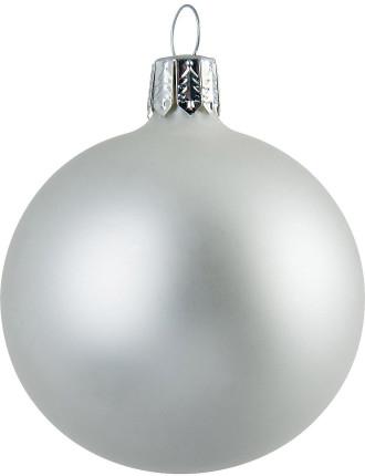 White Matte Bauble - 8cm