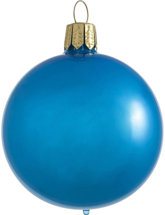 Blue Pearl Bauble - 10cm