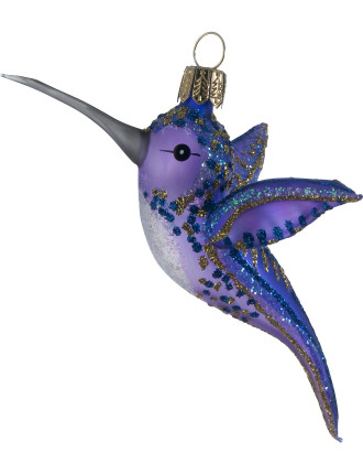 Purple Hummingbird Ornament