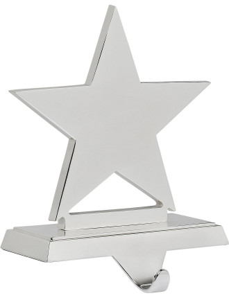 Star Stocking Holder Silver