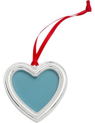Heart Photo Frame Silver