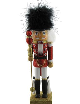 Decor-35cm Nutcracker Soldier Red