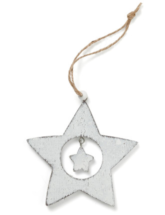 Star Cutout White
