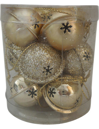 Bbox-Jingle Bell Bauble Box Gold