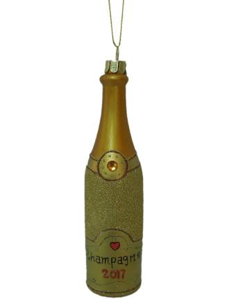 Orn-Champagne Bottle Gold