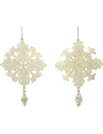 Glitter Snowflake Silver
