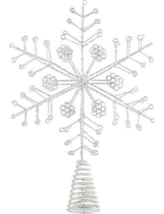 Acc-Tree Topper Snowflake Silver