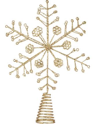 Snowflake Topper Gold