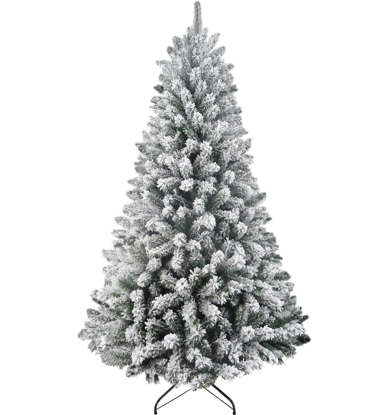 210cm north star flocked tree green - Christmas Trees Online