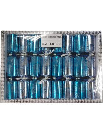 Crack-8pc Sea Shell Crackers Light/Deep Blue