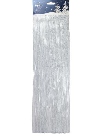 49cm Lametta Snowtip Tinsel White