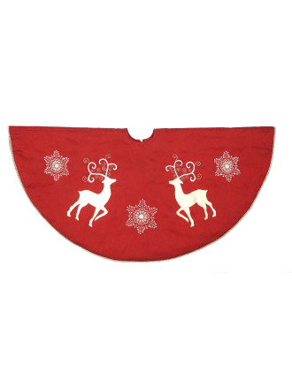 Reindeer And Snowflake Tree Skirt