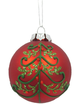 8cm Tree Pattern Bauble