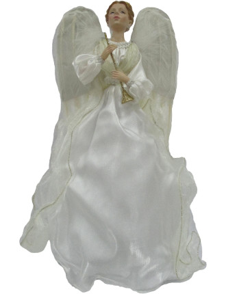Acc-Tree Topper Praying Angel White