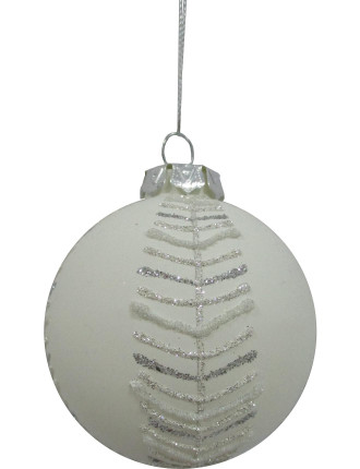 8cm Pine Needle Pattern Bauble