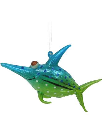 Orn-Glass Sword Fish Blue