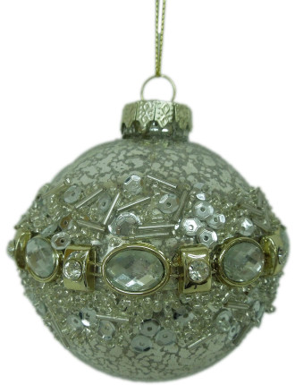 8cm Sequin Bauble