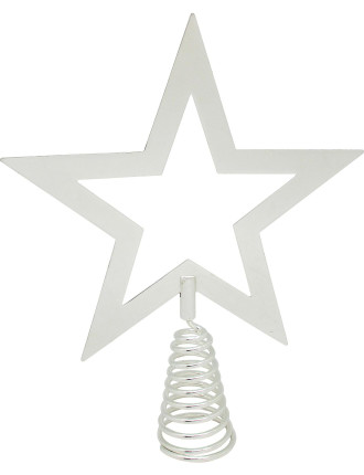 Acc-Tree Topper Star Shape Silver