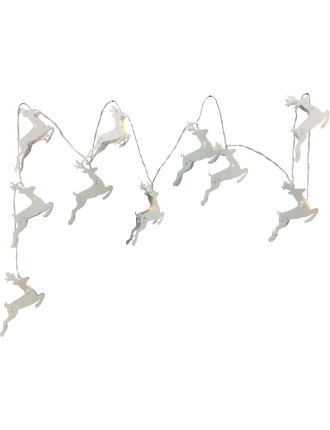 Light-Metal Reindeer String Silver 10U