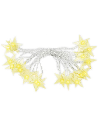 Light-20 Star Lights W/ Transparent Cord Warm White