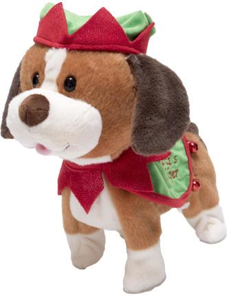 30cm Santa's Little Helper Dog Plush