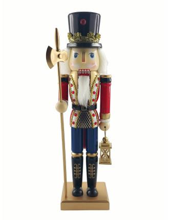 Decor-35cm Nutcracker Soldier Red/Blue