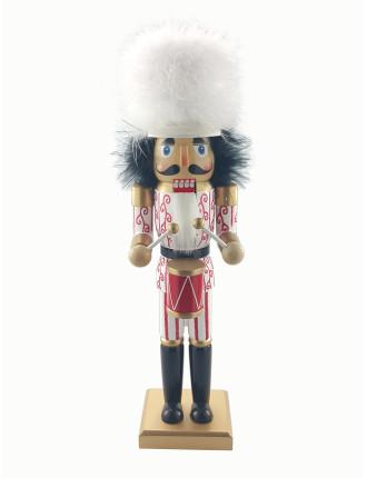 Decor-35cm Nutcracker Soldier White