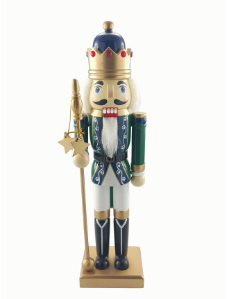Decor-35cm Nutcracker King Green