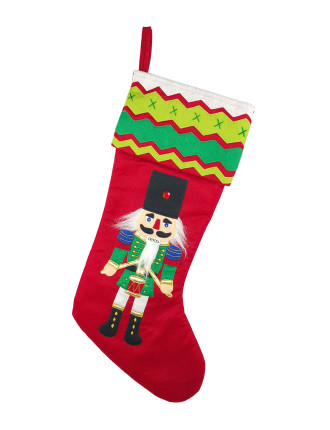 Stock-45X23 Applique Drummer Stocking Red