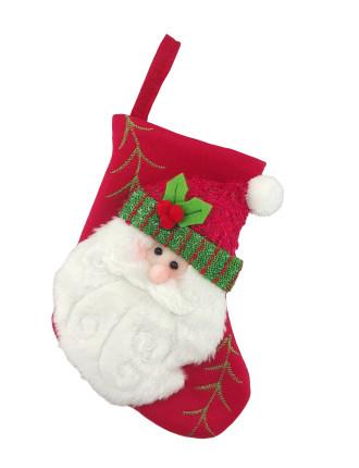 Stock-Mini Santa Stocking Red