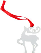 Silver Plated Reindeer Mini Ornament $3.95