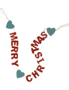 Folk Art Wooden 'Merry Christmas' Garland $24.95
