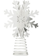 Tree Topper With Snowflake Design $29.95