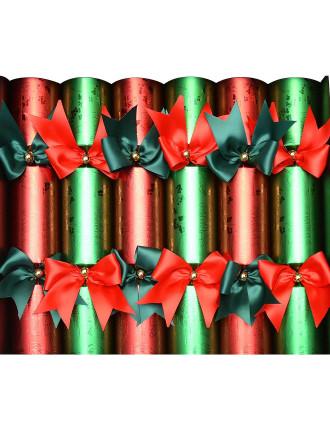 Crack-6pc 34cm Luxury Bon Bons Red/Green