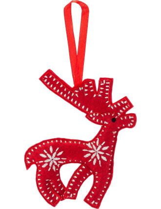 felt deer ornament