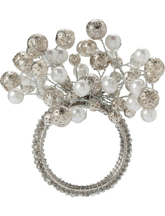 bead and pearl napkin ring