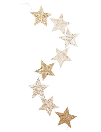 Paper star bunting
