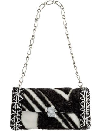 Zebra print bag ornament