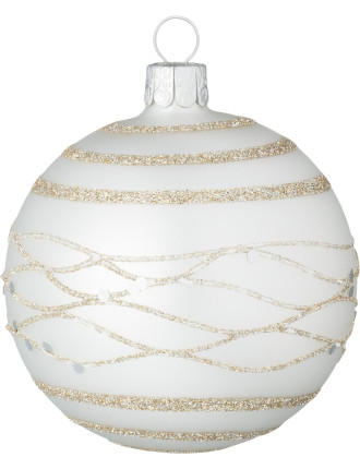 golden silver lines ornament