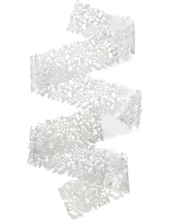 silver decorative foil lace