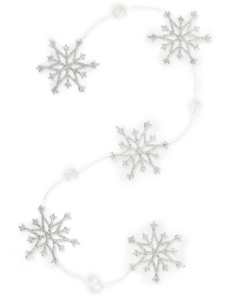 snowflake and crystal chain