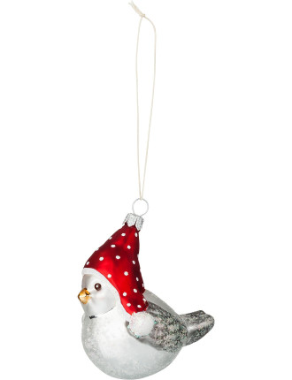 Bird in cap ornament