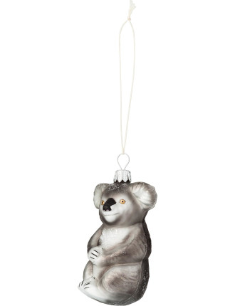 Glass koala ornament