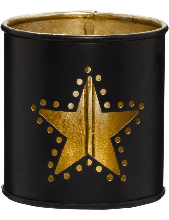 star design candle holder