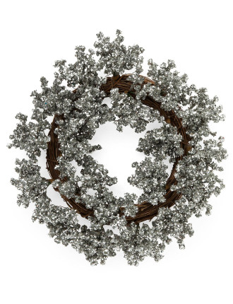 silver radiant wreath