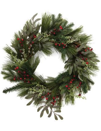 green juniper wreath