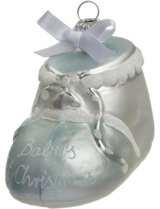 baby bootie ornament